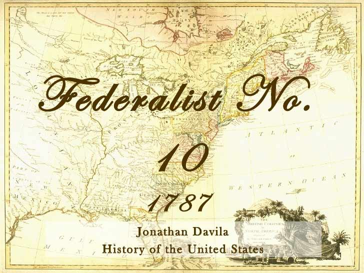 Lesson on Federalist Paper #10